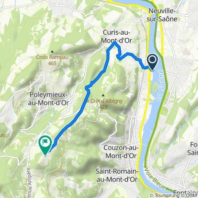Itinéraire à partir de 13 Avenue Henri Barbusse, Albigny-sur-Saône