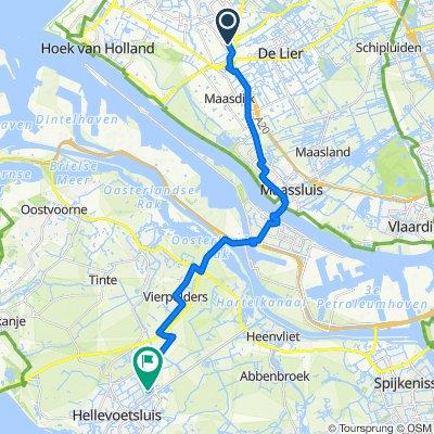 Monnikenlaan 33, Naaldwijk naar Rondostraat 34, Hellevoetsluis