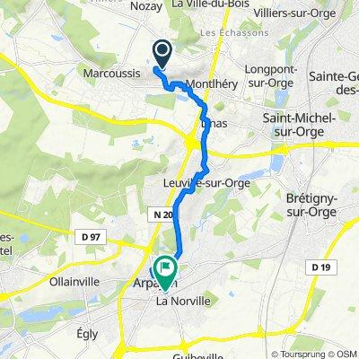 De 82 Chemin du Moulin à Vent, Montlhéry à 4 Boulevard Voltaire, Arpajon