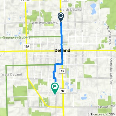 901 N Woodland Blvd, DeLand to 330 W New Hampshire Ave, DeLand