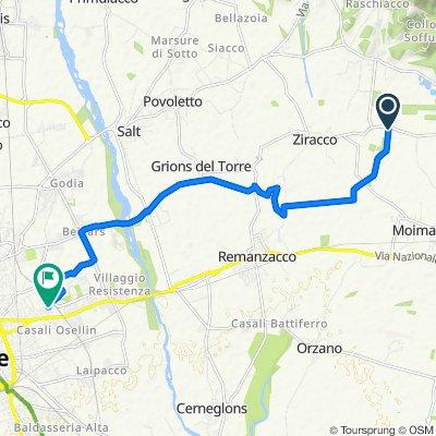 Da Località Ellero, Remanzacco a Via Natisone 11, Udine