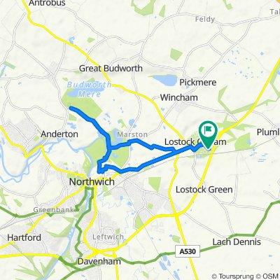 55 Silverlea Road, Northwich to 53 Silverlea Road, Northwich