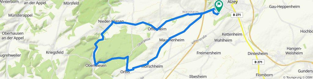 Alzey - Orbis - Oberwiesen - Alzey