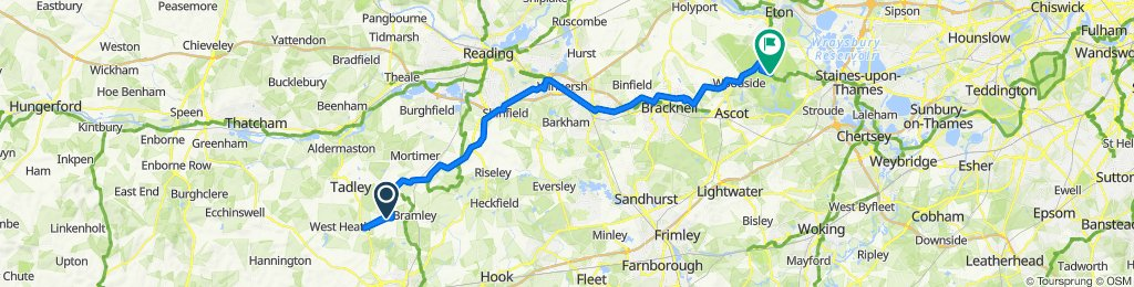 Boar's Bridge, Bramley, Tadley to Duke's Lane, Windsor Great Park, Windsor