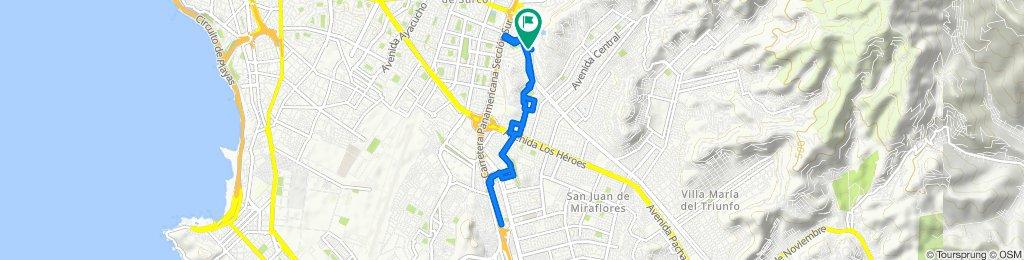 De Avenida Salvador Allende 723, Lima a Avenida Salvador Allende 723, Lima