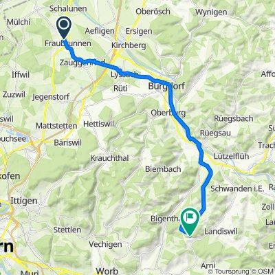 Tafelenfeldweg 5, Fraubrunnen nach Ochsenwald, Obergoldbach