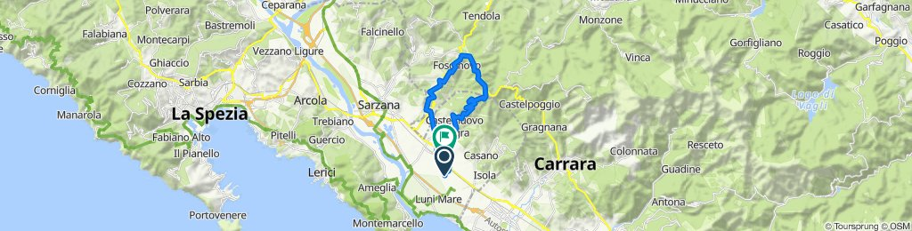 Da Via Fontanella 3, Colombiera a Via Aurelia 162, Colombiera