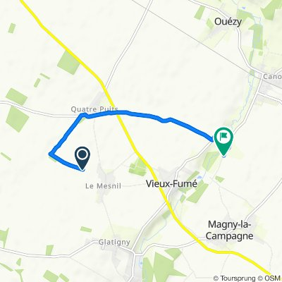 Itinéraire vers 4 Route du Moulin, Magny-la-Campagne
