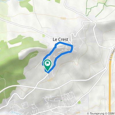 De 13 Rue sous le Beaubouteix, Le Crest à 13 Rue sous le Beaubouteix, Le Crest