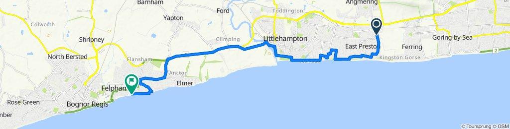 43 North Lane, Littlehampton to 24 First Ave, Bognor Regis