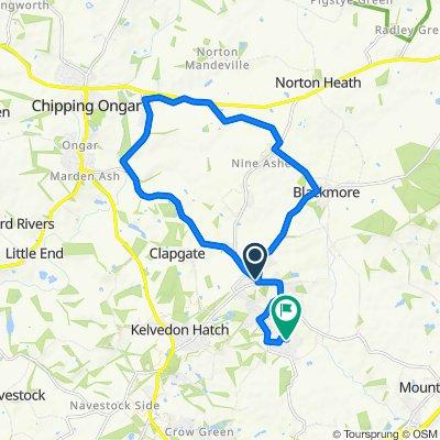 Ivydene, Tipps Cross Lane, Brentwood to 17 Parsonage Field, Brentwood