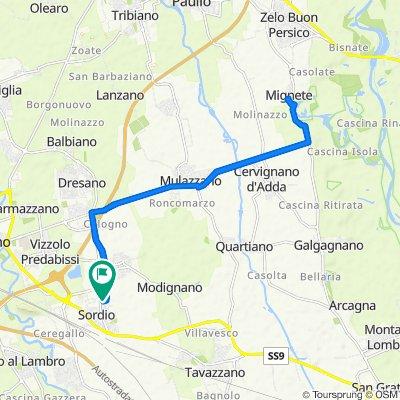 Da Via Don Luigi Savarè 1, Sordio a Via Madre Cabrini 11, Sordio