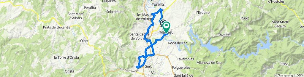 De Calle de Nuria, 53, Manlleu a Paseo del Ter, 34–40, Manlleu