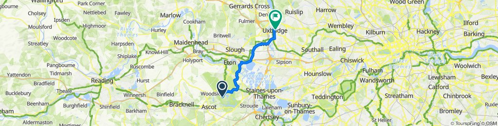 Route to 165-166 High St, Uxbridge
