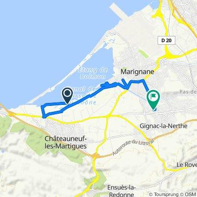 Itinéraire vers 10 Chemin du Puisatier, Gignac-la-Nerthe