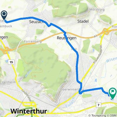 Rainweg 41, Seuzach nach Im Oberen Gern 75, Winterthur
