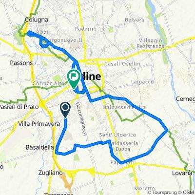 Da Via Pozzuolo 233, Udine a Via Gaeta 31, Udine
