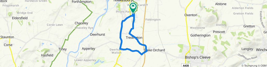 17 Hawkmoth Close, Tewkesbury to 1 Hawkmoth Close, Tewkesbury