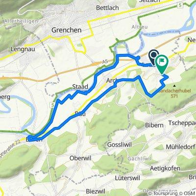Käsereistrasse 7, Leuzigen nach Oberbergstrasse 1, Leuzigen