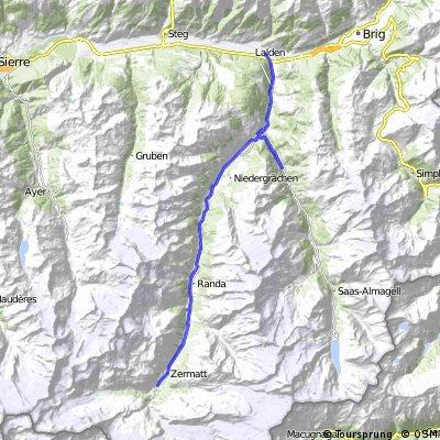 Z Täsch přes Zermatt do Visp