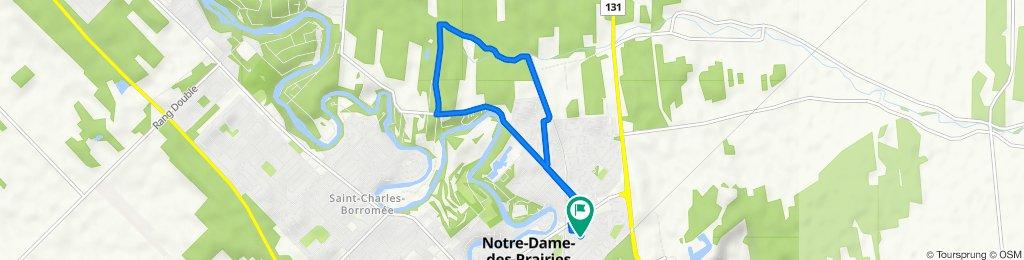 De 19 Rue Dion, Notre-Dame-des-Prairies à 14 Rue Labrecque, Notre-Dame-des-Prairies