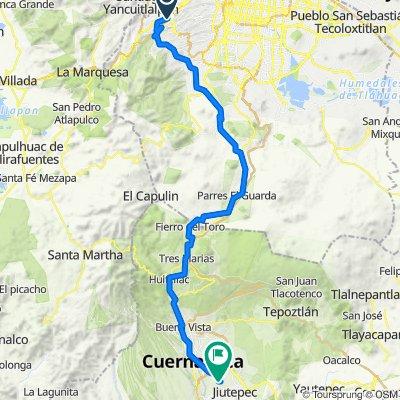 De Prolongacion Paseo de la Reforma 215, Ciudad de México a Framboyanes 273, Jiutepec