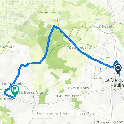 De 7 Allée des Caudalies, La Chapelle-Heulin à 24 Route de Nantes, La Chapelle-Heulin