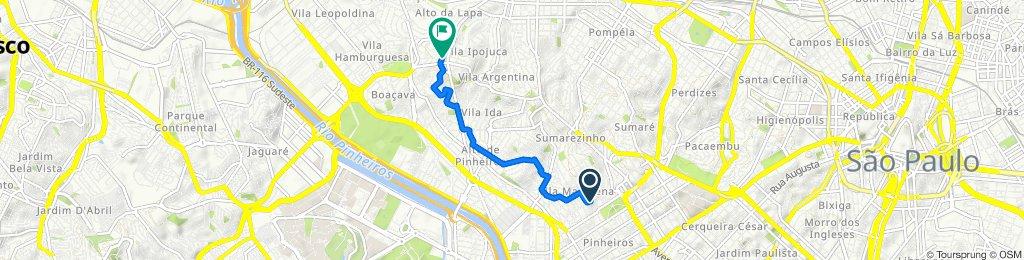 De Rua Aspicuelta, 321, São Paulo a Rua Pio XI, 1204–1280, São Paulo