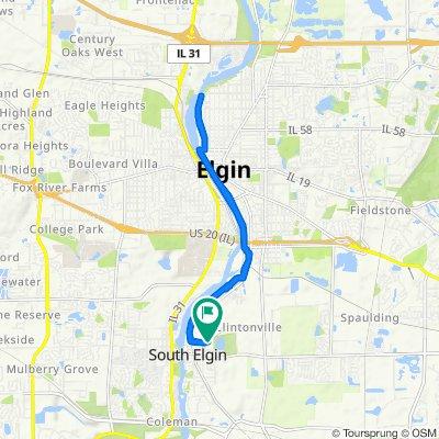 673 E Main St, South Elgin to 673 E Main St, South Elgin