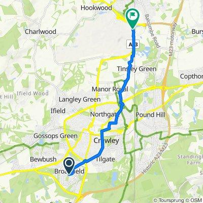 19 Greenwood Court, Webb Close, Crawley to London Road, London Gatwick Airport, Gatwick