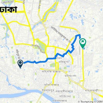 Azimpur Road 44, Dhaka to Basabo Madertek Road, Dhaka
