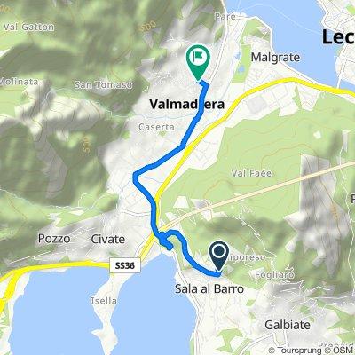 Da Via del Marè 4, Galbiate a Via Bovara 6, Valmadrera