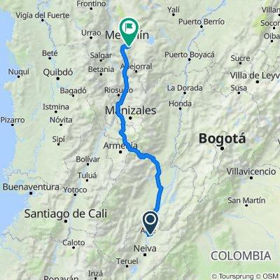 Ruta desde vía a Tatacoa, Villavieja