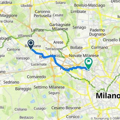 Da Corso Europa 325, Rho a Via Privata Porretta 51, Milano