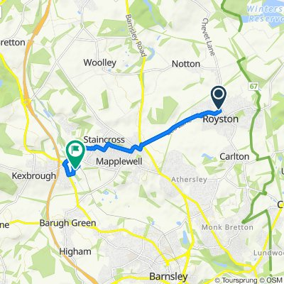 90 Newtown Ave, Barnsley to Darton Business Park, Barnsley Road, Barnsley