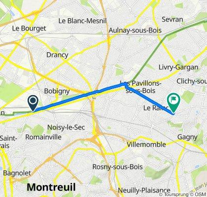De 9 Rue Alphonse Müller, Bobigny à 1bis Boulevard de l'Est, Le Raincy