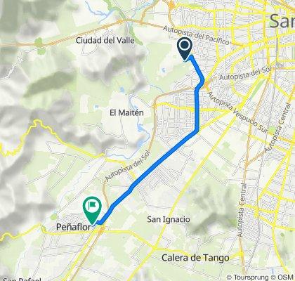 Ruta a Matico 1–601, Peñaflor