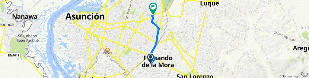 De Molina 826, Fernando de la Mora a Avenida Aviadores del Chaco 3077, Asunción