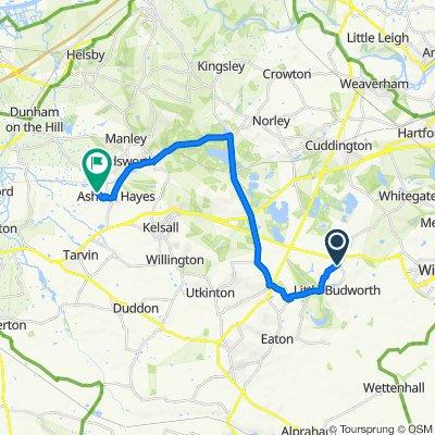 Sandstone Barn, Park Road, Tarporley to 5, Peel Hall Park, Peel Hall Lane, Chester