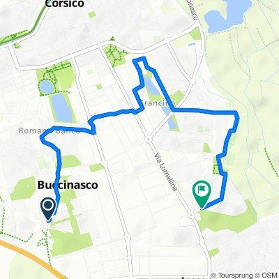 Da Via Romagna, Buccinasco a Via Guido Rossa 8, Buccinasco