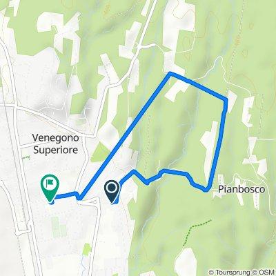 Da Via San Rocco 9, Venegono Superiore a Via Cervino 19, Venegono Superiore