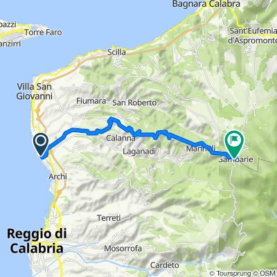 Da Via Prima Quarnaro, Gallico a Via Giuseppe Garibaldi 27, Gambarie