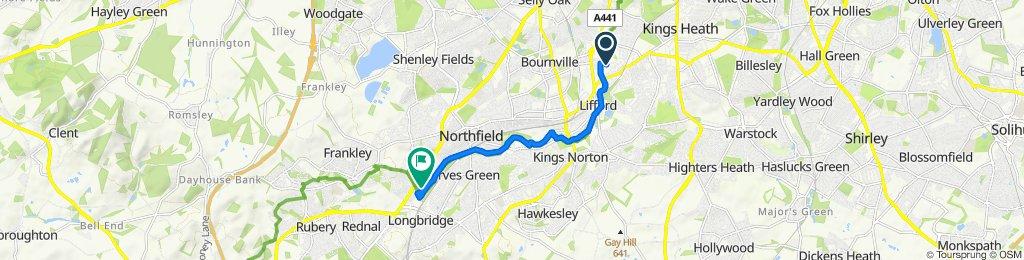 33, Stirchley Trading Estate, Hazelwell Road, Birmingham to 17 Millbrook Dr, Birmingham