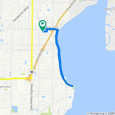 3407 W San Juan St, Tampa to 3409 W San Juan St, Tampa