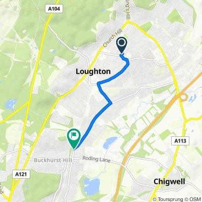 67 Church Lane, Loughton to 9 Loughton Way, Buckhurst Hill