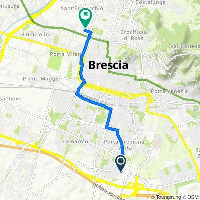 Da Via Giovanni Venturini 13, Brescia a Via Aquileia 20, Brescia