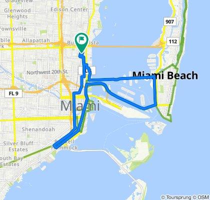 3200 NE Second Ave, Miami to 101–199 NE 32nd St, Miami