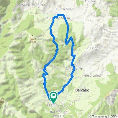 Balanzas Dolmen MTB route. Sierra de Guara