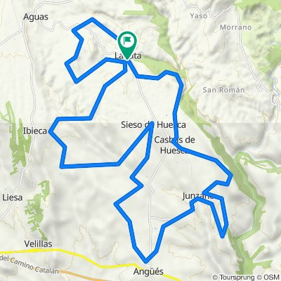 Valley of the Glory gravel route. Sierra de Guara