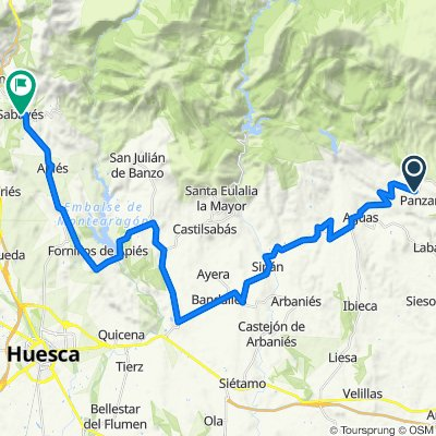 Cycle touring. Tour Sierra de Guara. Stage 2